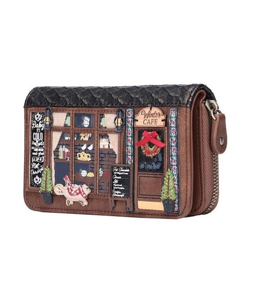 Winter Café Medium Ziparound Wallet