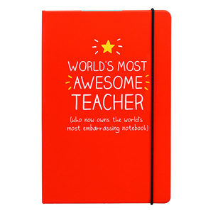World's Most Awesome Teacher A5 Notebook