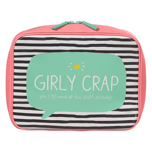 Girly Crap Washbag - Coral