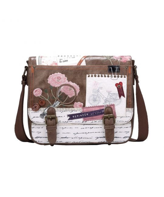 Vintage Stationery Satchel Bag