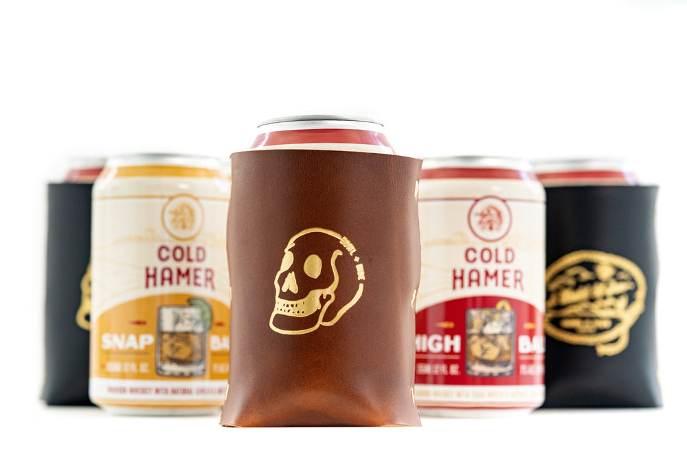Koozie - Large Skull - Antique Tan