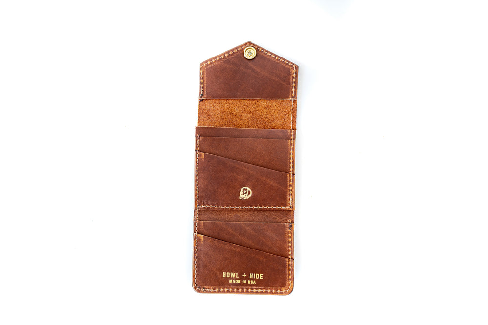 The Snap Bifold - Antique Tan