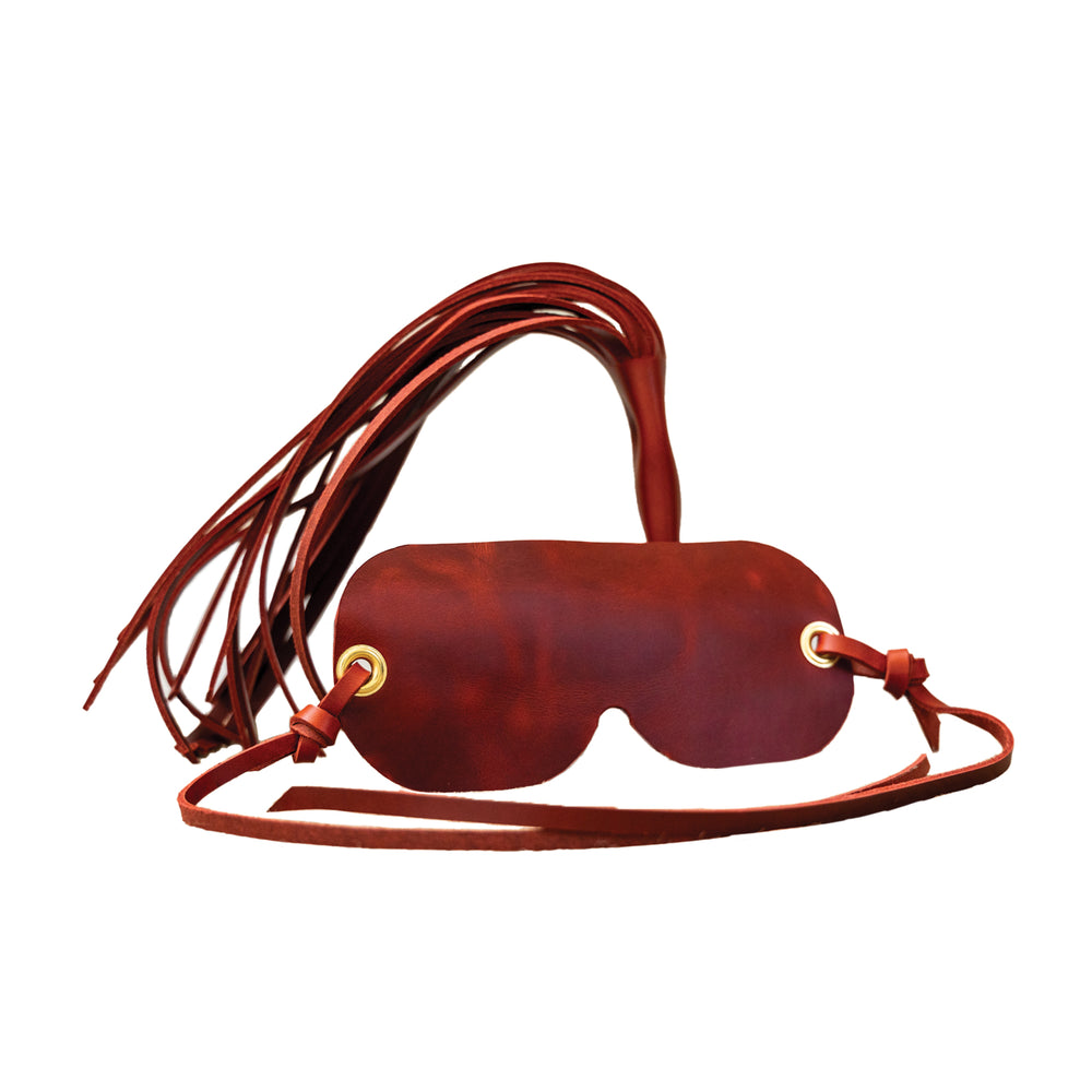 Leather Eye Mask + Whip- Mild to Wild Collection