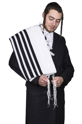 tallis wool hamefoar - ultra light  - With Tzitzis
