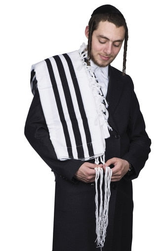 tallis wool kanesher - super light - With Tzitzis