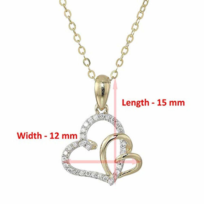 Vir Jewels 1/10 cttw Diamond Heart Pendant 14K Yellow Gold with 18 Inch Chain