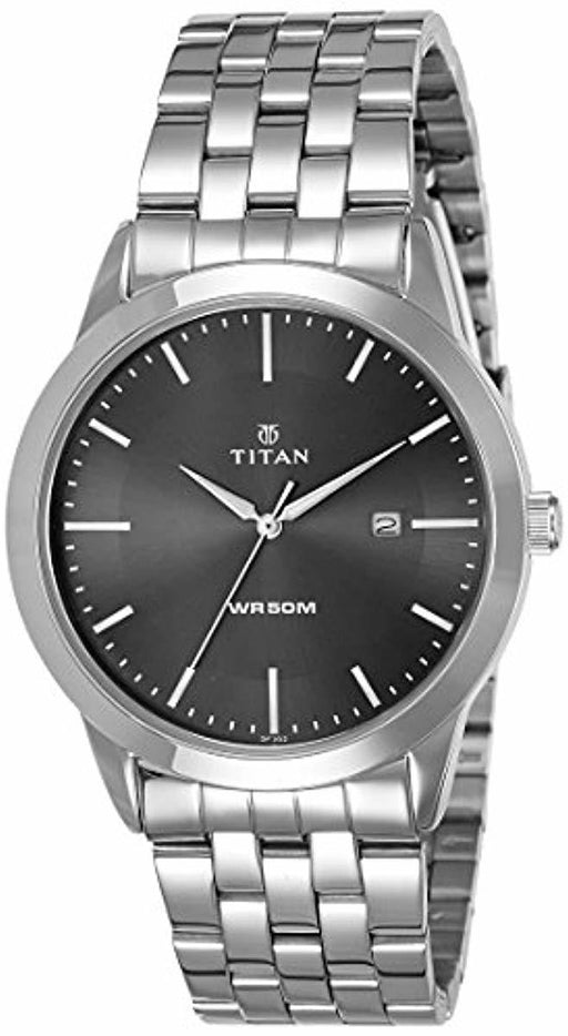 Titan Workwear Men's Designer Dress Watch | Quartz, Water Resistant, Stainless Steel or Leather Band