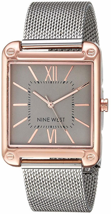 Women's  Rose Gold-Tone and Silver-Tone Mesh Bracelet Watch