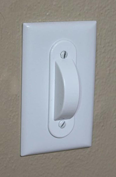 White Switch Plate Cover Guard Keeps Light Switch ON or Off Protects Your Lights or Circuits from Accidentally Being Turned on or Off.