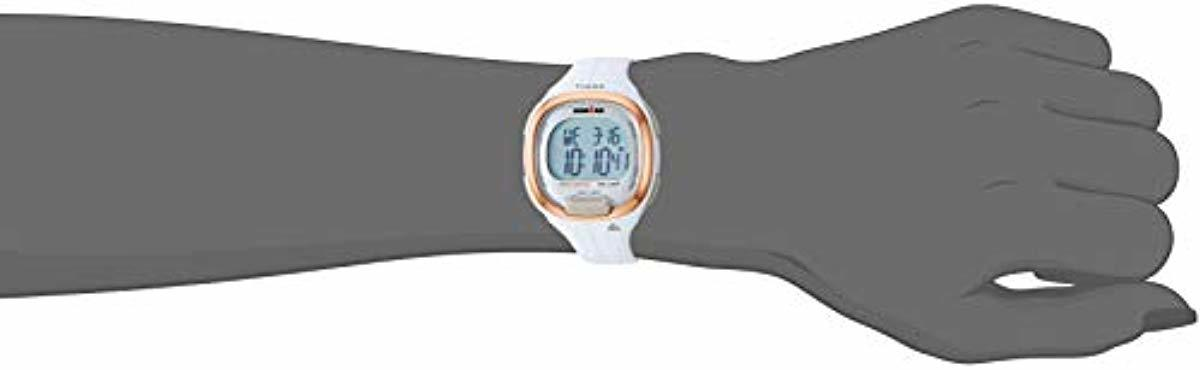 Timex Women's TW5M19900 Ironman Transit Mid-Size White/Rose Gold-Tone Resin Strap Watch