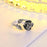 Alphm Rose Flower Ring for Women S925 Sterling Silver Adjustable Wrap Open Ring