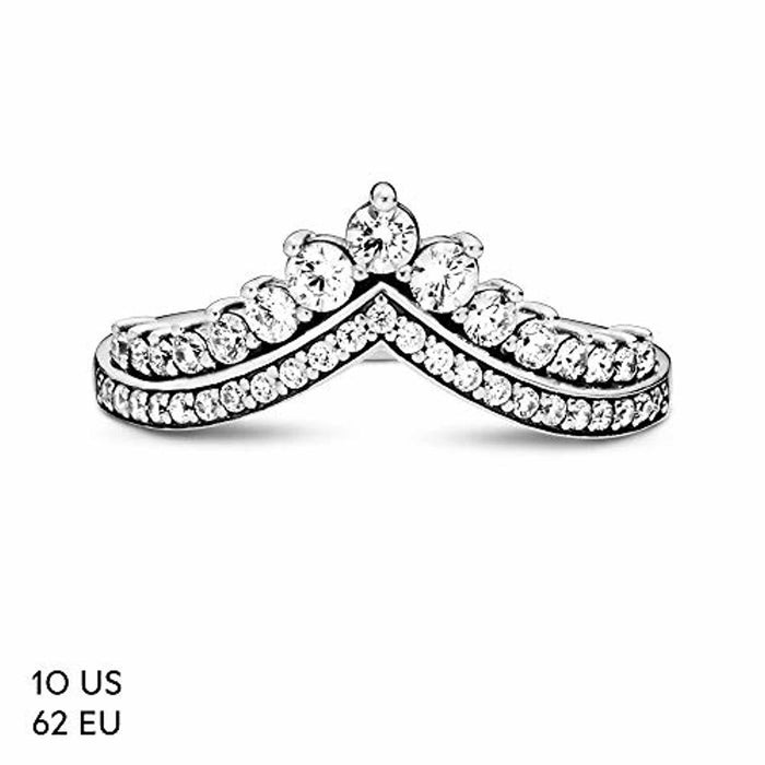 Pandora Jewelry - Princess Wish Ring for Women in Sterling Silver with Clear Cubic Zirconia