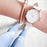 Olivia - 5 Options - Womens Watch Crystal Rose Gold Boyfriend Ladies White Leather Strap Band