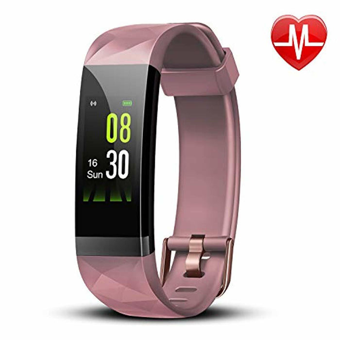 Letsfit Fitness Tracker, Activity Tracker Watch with Heart Rate Monitor, IP68 Standard Fitness Wristband with Step Counter, Calorie Counter, Smart Watch for Kids, Women and Men