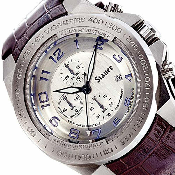 Stauer Men's Tauros Stainless Steel Chronograph Watch