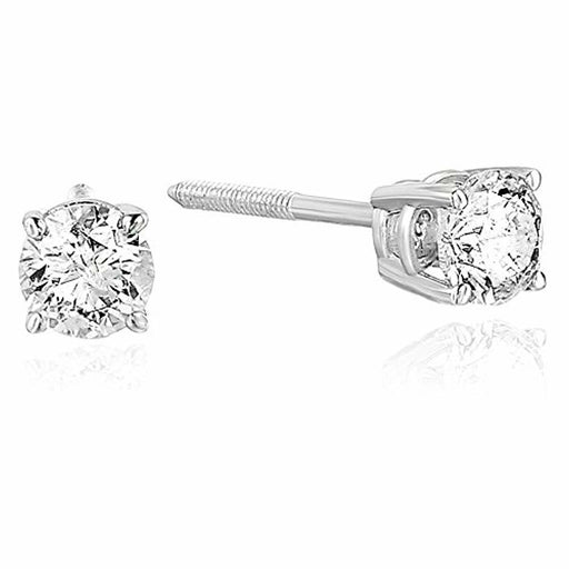 Vir Jewels 3/8 cttw Diamond Stud Earrings 14K White or Yellow Gold