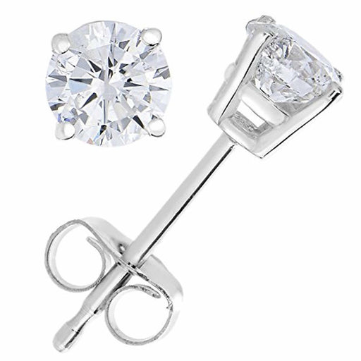 Vir Jewels 0.30 cttw Diamond Stud Earrings 14K Gold 4 Prong With Push Backs
