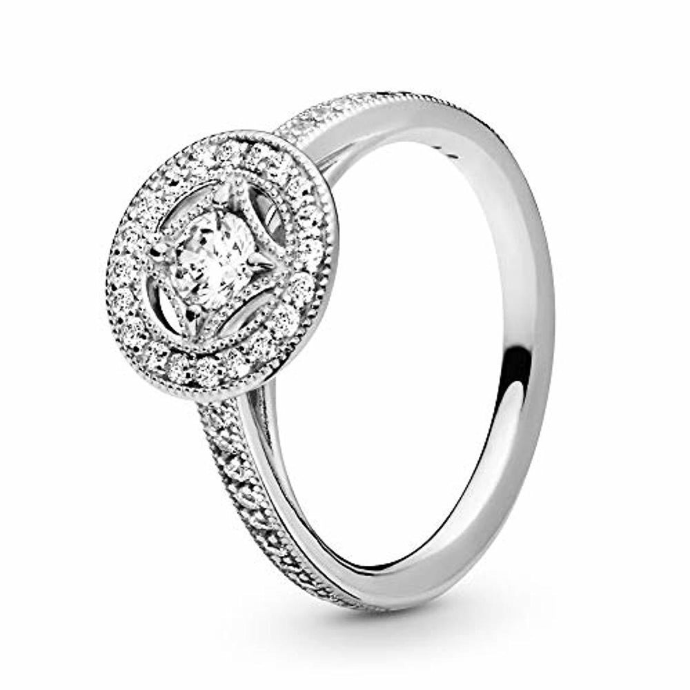 Pandora Jewelry - Vintage Circle Ring for Women in Sterling Silver with Clear Cubic Zirconia