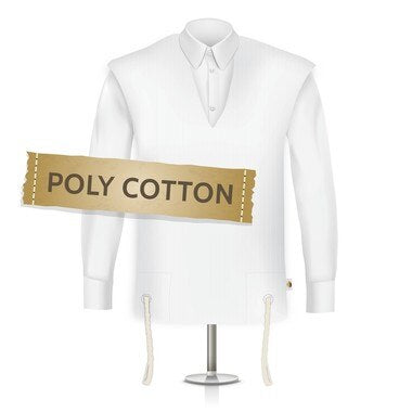 Poly Cotton Tzitzis, Round Neck