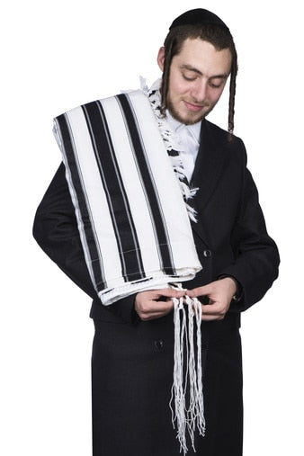 tallis wool - viznitz - With Tzitzis