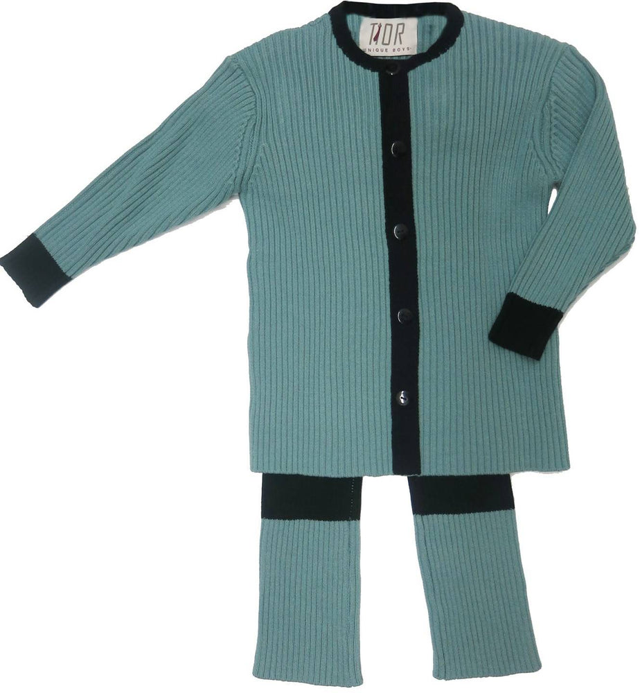 COLORBLOCK RIBBED 2PC SET