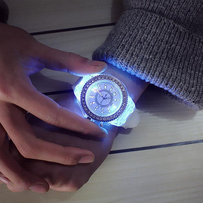 7-Different Color LED Watch