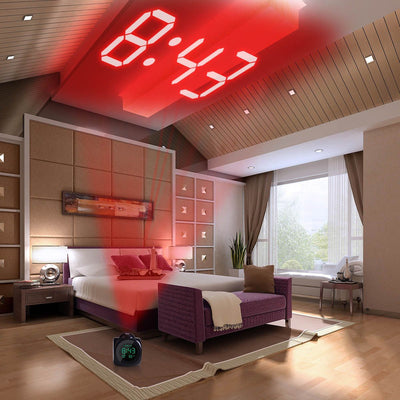 LED Projector Alarm Clock