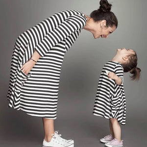 Casual Striped Dresses