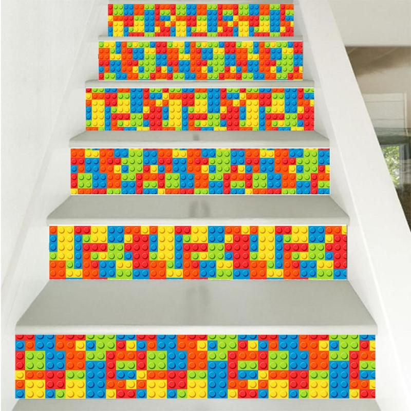 Stairway Stickers Blocks Pattern