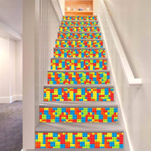 Load image into Gallery viewer, Stairway Stickers Blocks Pattern