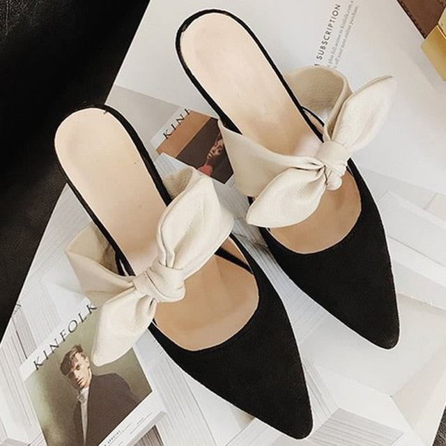 High Thin Heels Slip Shoes