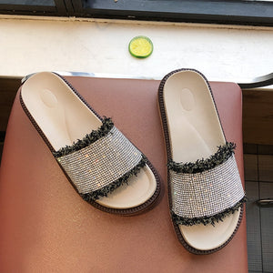Mixed Colors Slippers Women Shoes