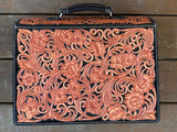 Fully Tooled Leather Briefcase