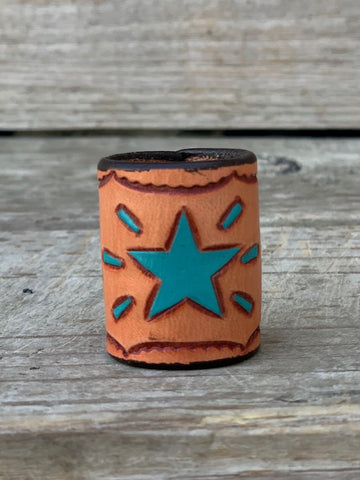 Scarf Slide Turquoise Star