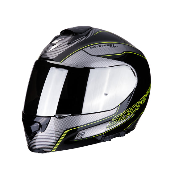 Scorpion Modular Exo-3000 Air Stroll Silver Yellow Helmet