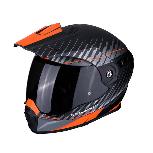 Scorpion ADX-1 Dual Matte Black Orange Helmet