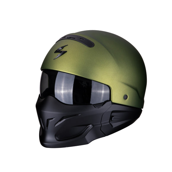 Scorpion Exo-Combat Solid Green Helmet