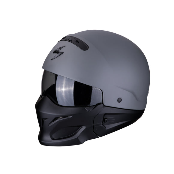 Scorpion Exo-Combat Solid Cement Grey Helmet