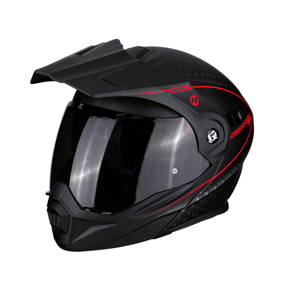 Scorpion ADX-1 Horizon Matte Black Neon Red Helmet