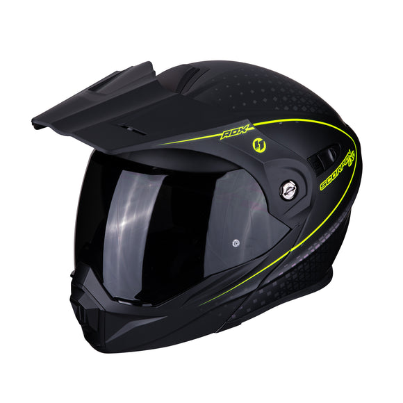 Scorpion ADX-1 Horizon Matte Black Neon Yellow Helmet