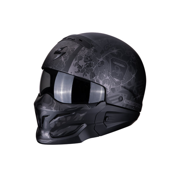 Scorpion Exo-Combat Stealth Black Helmet