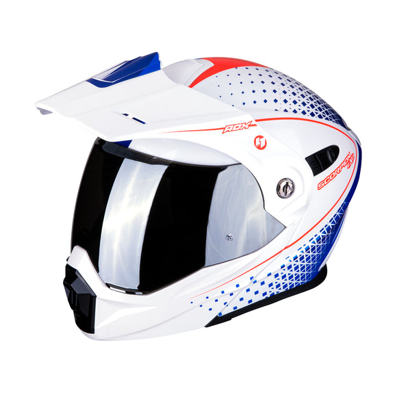 Scorpion ADX-1 Horizon Pearl White Blue Red Helmet