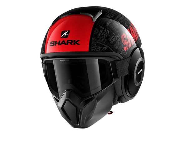 SHARK Street Drak Tribute Red Helmet