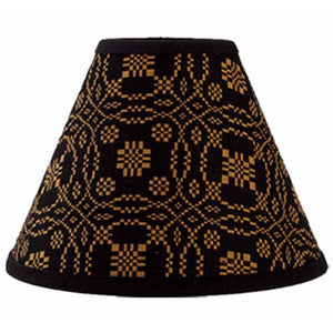 "Lover's Knot Jacquard Black and Mustard 14"" Washer Lampshade by Raghu"
