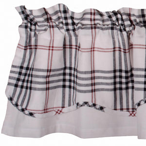 Chesterfield Check Fairfield Valance Cream - Black - Red by Raghu