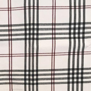 "Chesterfield Check Cream with Black and Red 36"" Lined Cotton Curtain"