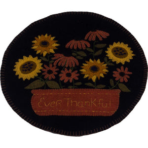 Ever Thankful Black Candle Mat - Set of 2