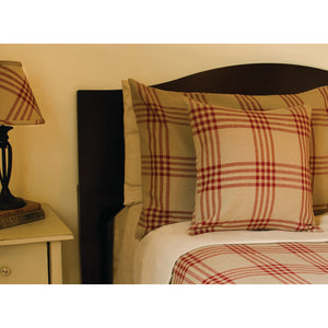 Chesterfield Check Bedcover Queen Barn Red