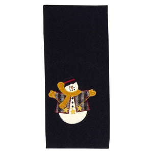 String Of Stars Snowman Towel - Set of 2 by Raghu