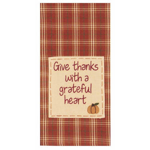 Give Thanks With A Grateful Heart Towel - Set of 2 by Raghu